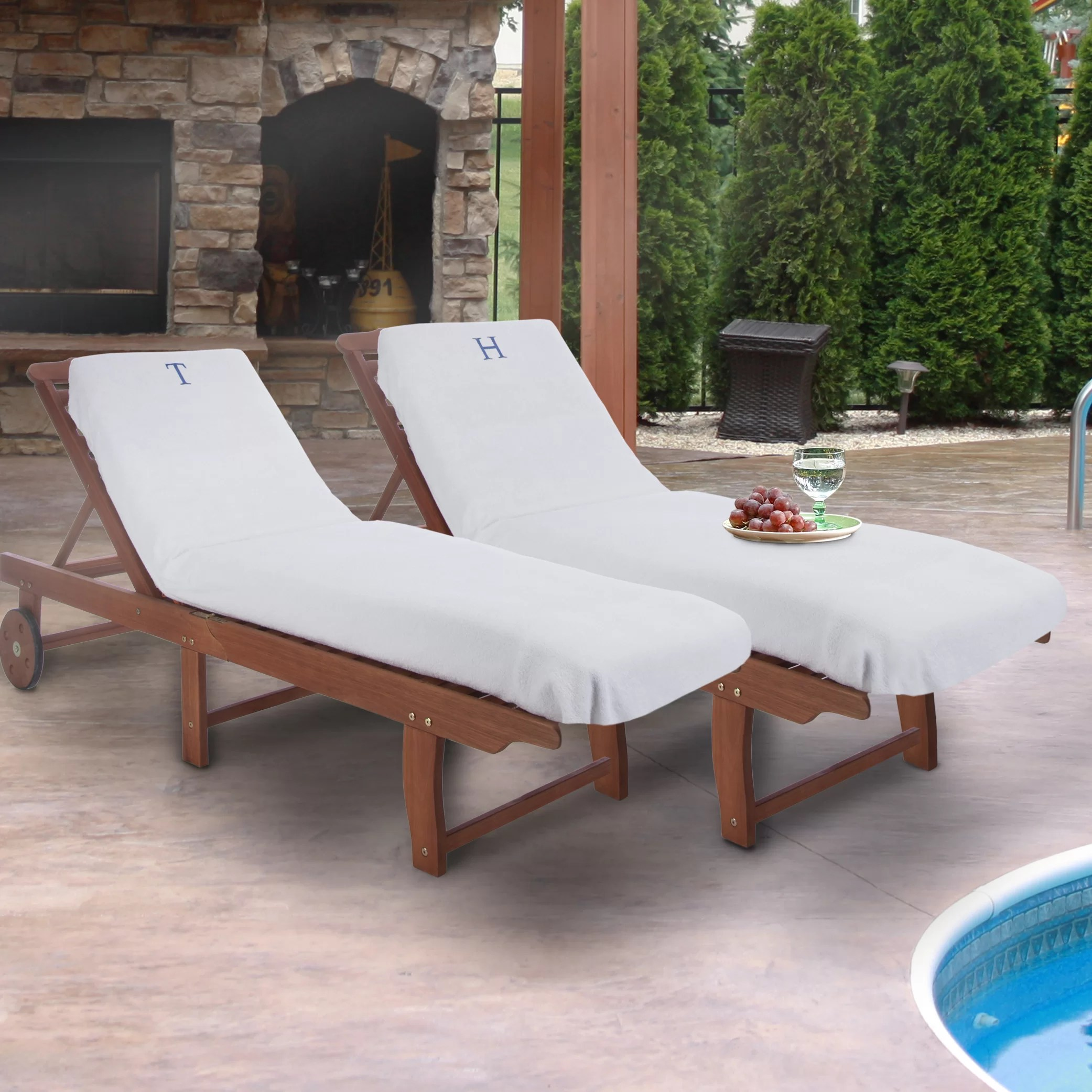 Pool Chaise Lounge Chairs Ebern Designs Superior Patio Chaise Lounge Cover Reviews Wayfair