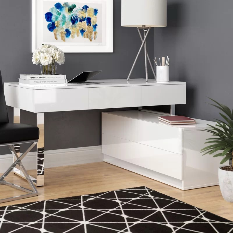 Moderner Schreibtisch Claysville Modern Desk With Hutch & Reviews | Allmodern