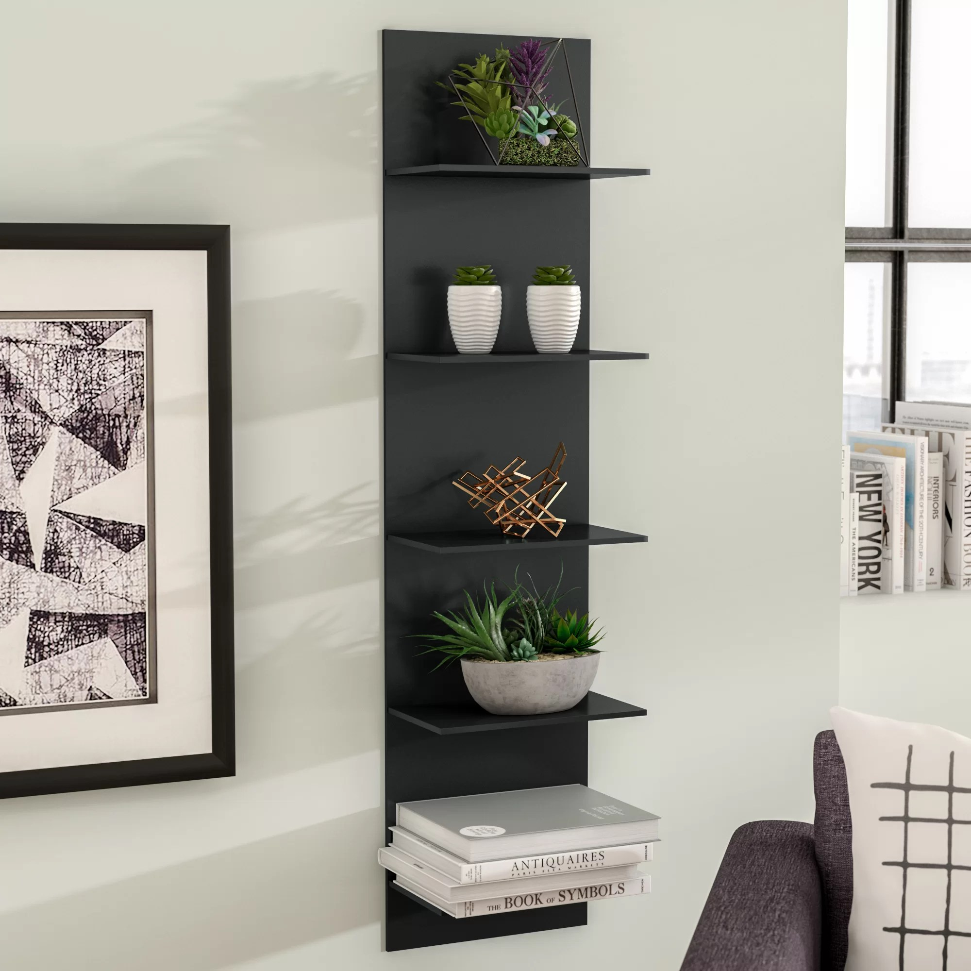 Wall Shelf Design Molina Wide Column Wall Shelf