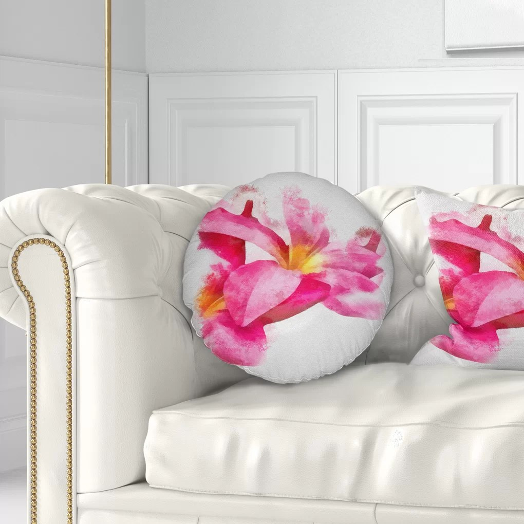 Big Couch Throw Floral Beautiful Flowers With Big Petals Throw Pillow