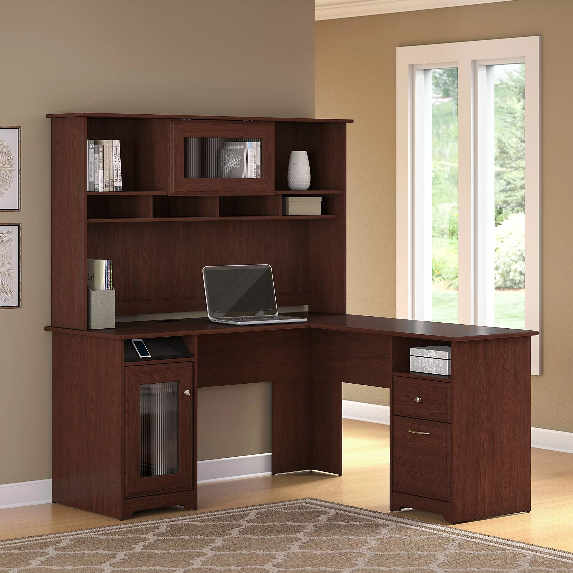 Executive L Shaped Desk Toledo L Shaped Executive Desk With Hutch