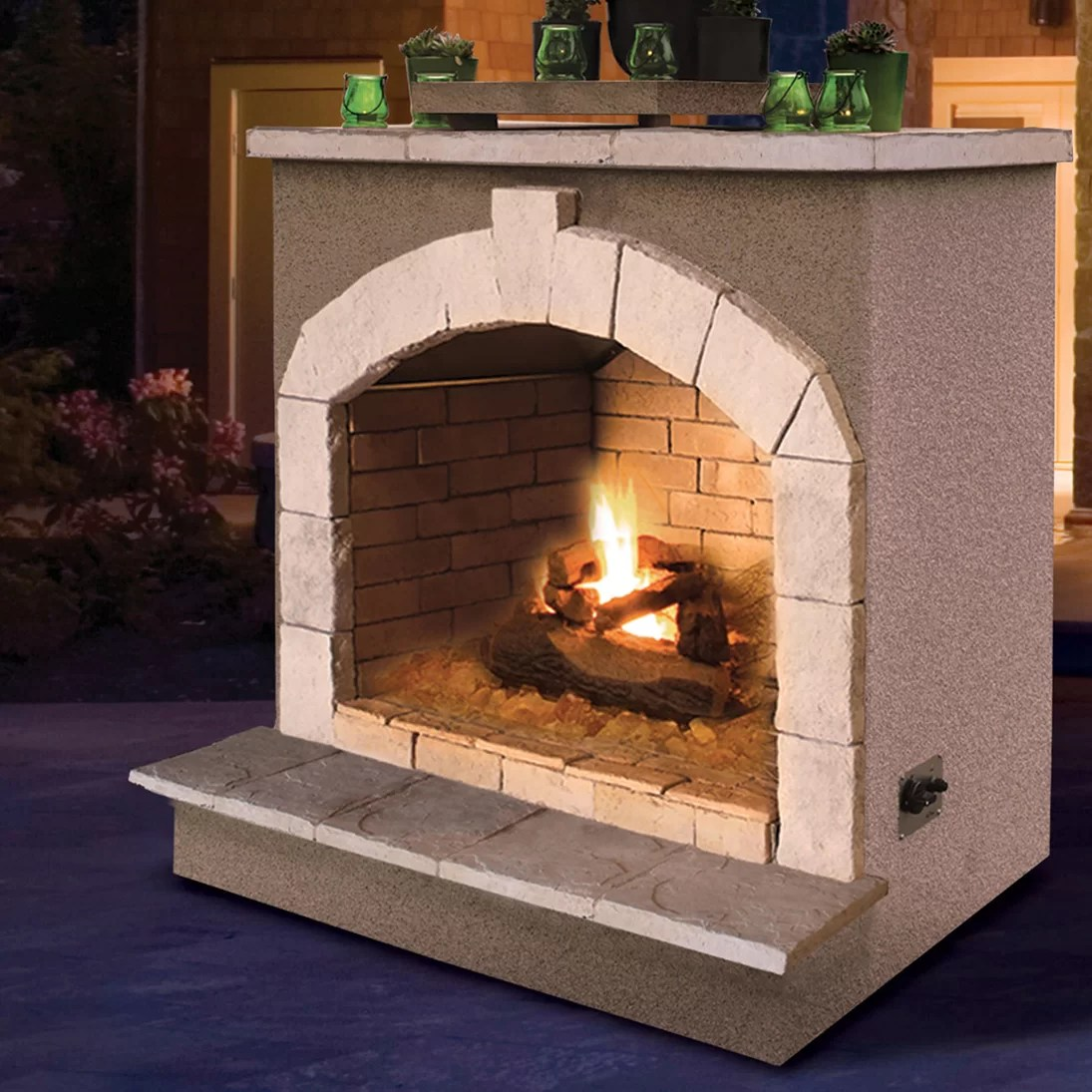 Btu Gas Fireplace Porcelain Gas Outdoor Fireplace