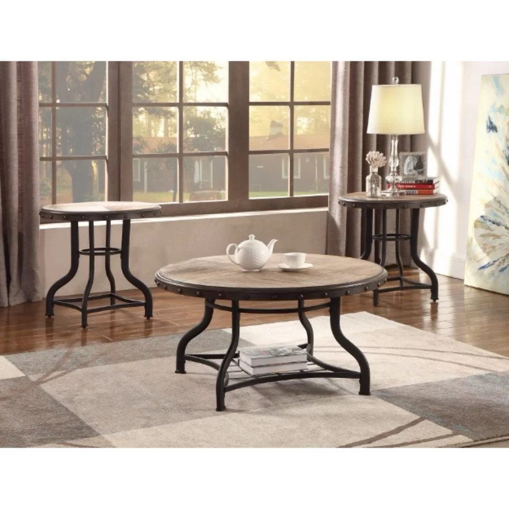 Beautiful Coffee Table Catarina Solid Wooden 3 Piece Coffee Table Set