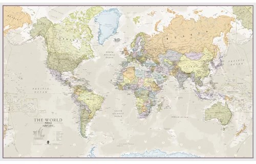 dCor design \u0027Classic World Map\u0027 Graphic Art Print  Reviews
