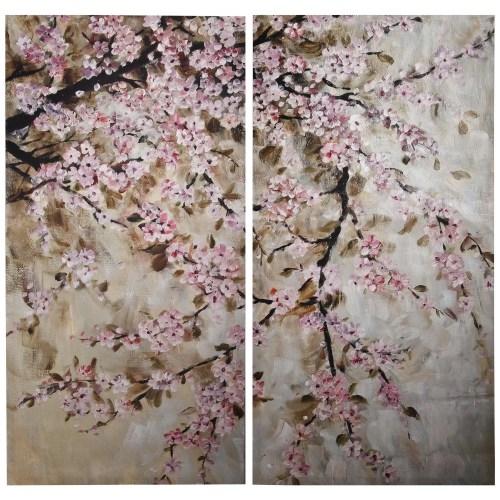 Medium Crop Of Cherry Blossom Painting