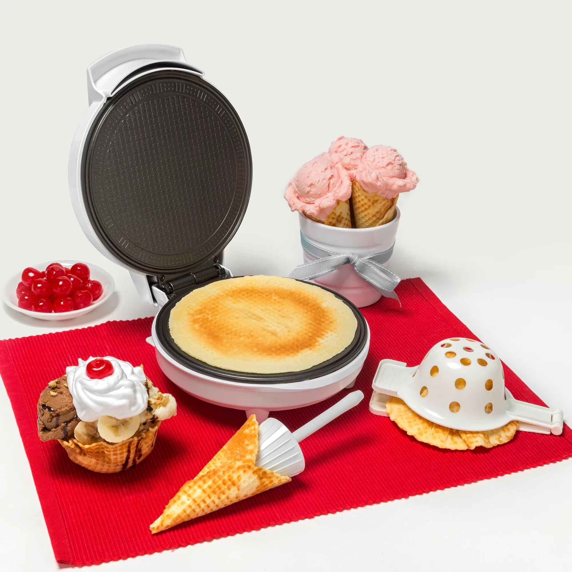 Cucinapro Multi-baker With Interchangeable Plates Cucinapro Waffle Cone And Bowl Maker