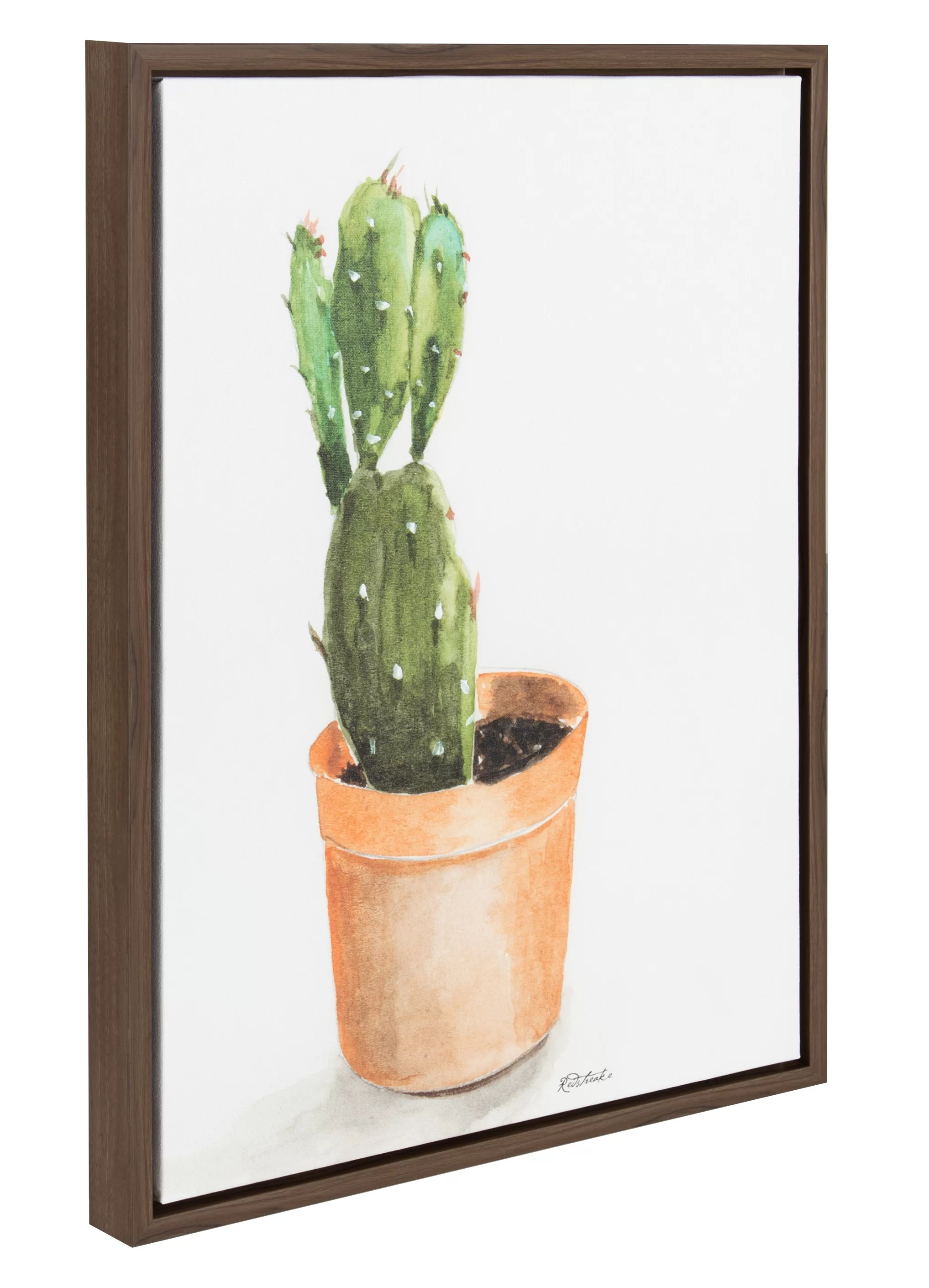 Cactus Planting Pots Cactus In Pot Watercolor Painting Print On Canvas