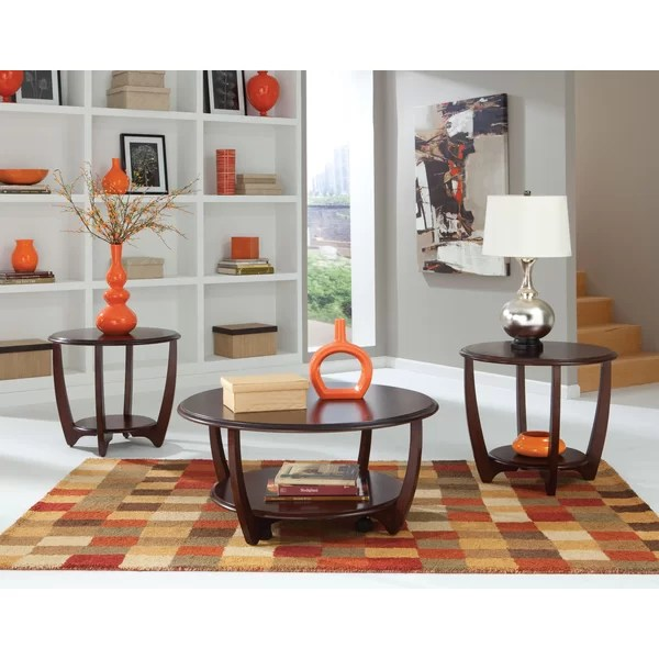 Wade Logan Ophelia 3 Piece Coffee Table Set \ Reviews Wayfair - 3 piece living room table set