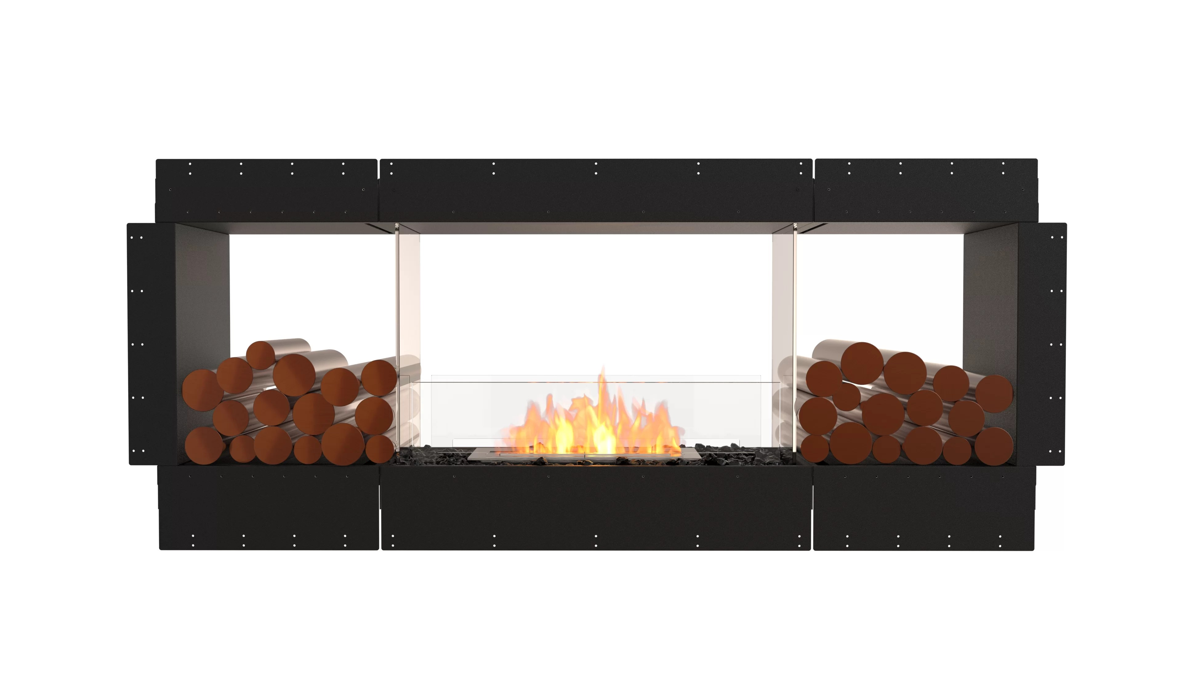 Ethanol Fireplaces Reviews Flex Double Sided Wall Mounted Bio Ethanol Fireplace