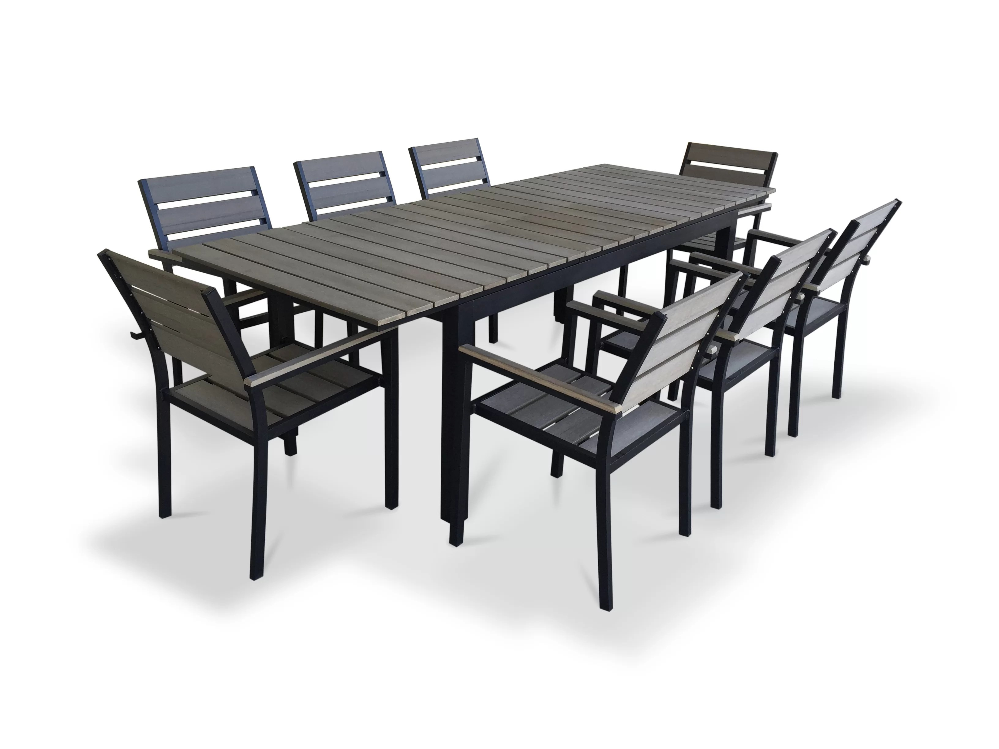 9 Piece Outdoor Dining Set 9 Piece Extendable Outdoor Dining Set