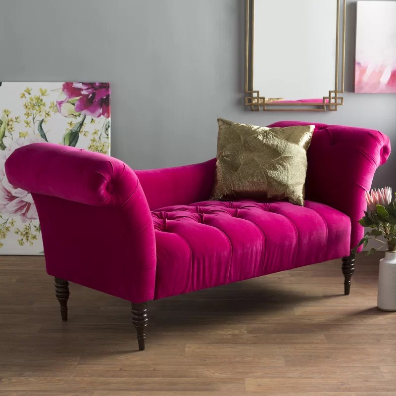 Willa Arlo Interiors Dominique Chaise Lounge \ Reviews Wayfair - living room chaise lounge