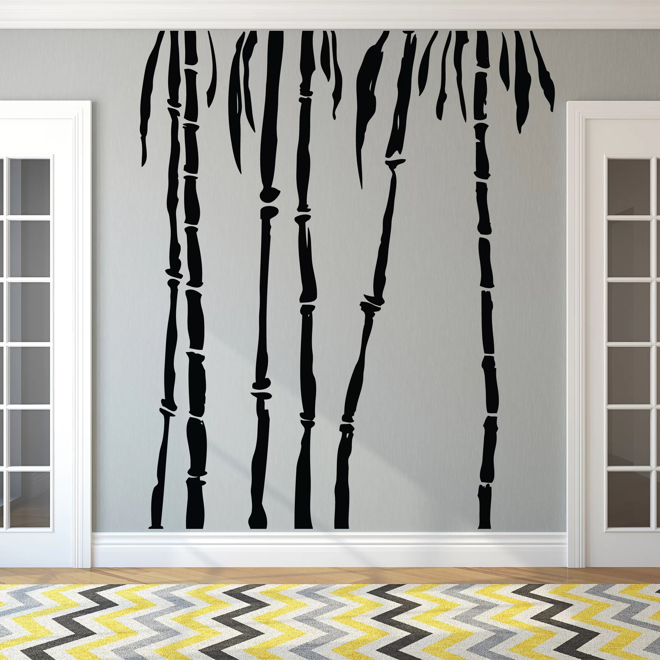 How To Separate A Room Without A Wall Bamboo Trees Wall Decal