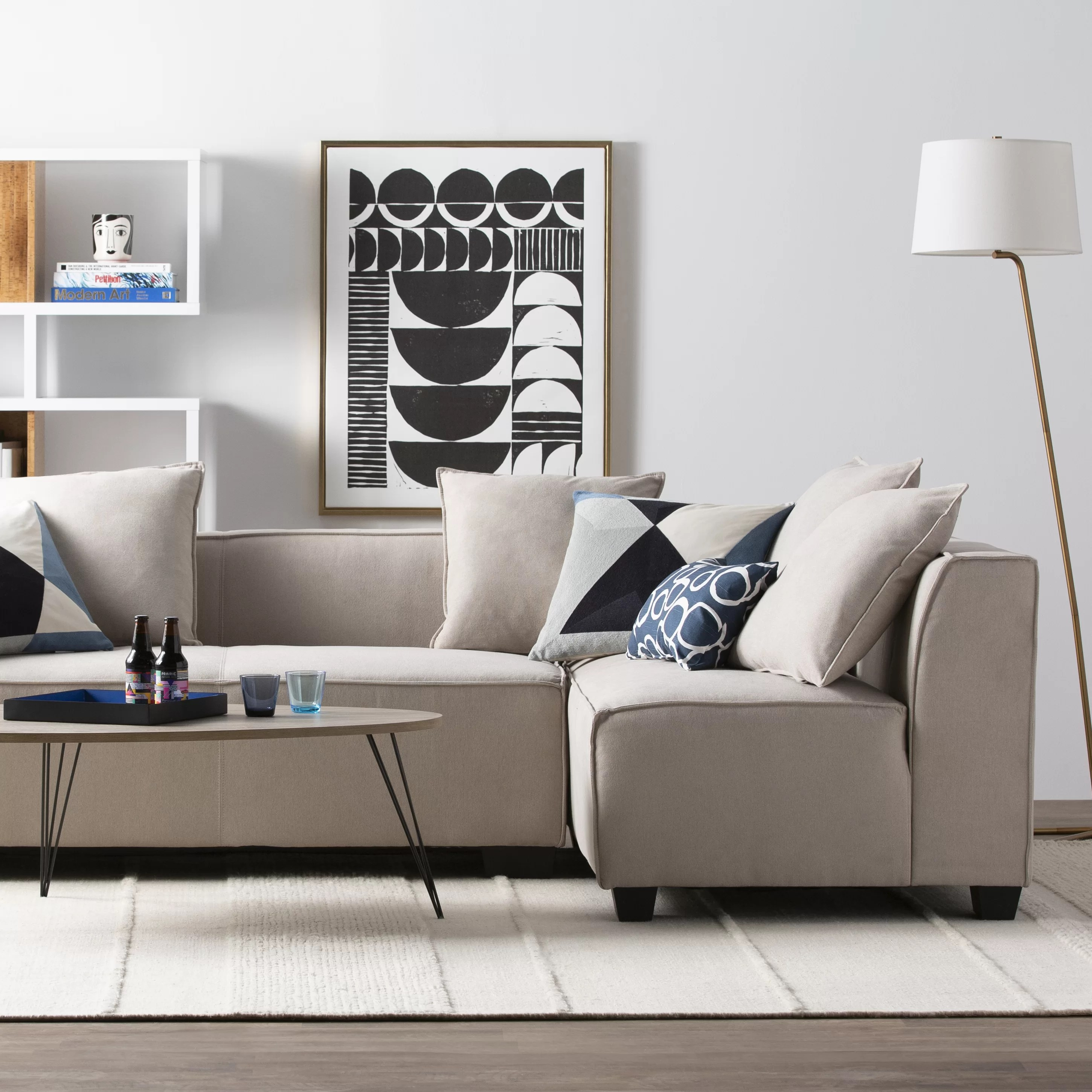Grey Living Room Furniture Modern Contemporary Living Room Furniture Allmodern