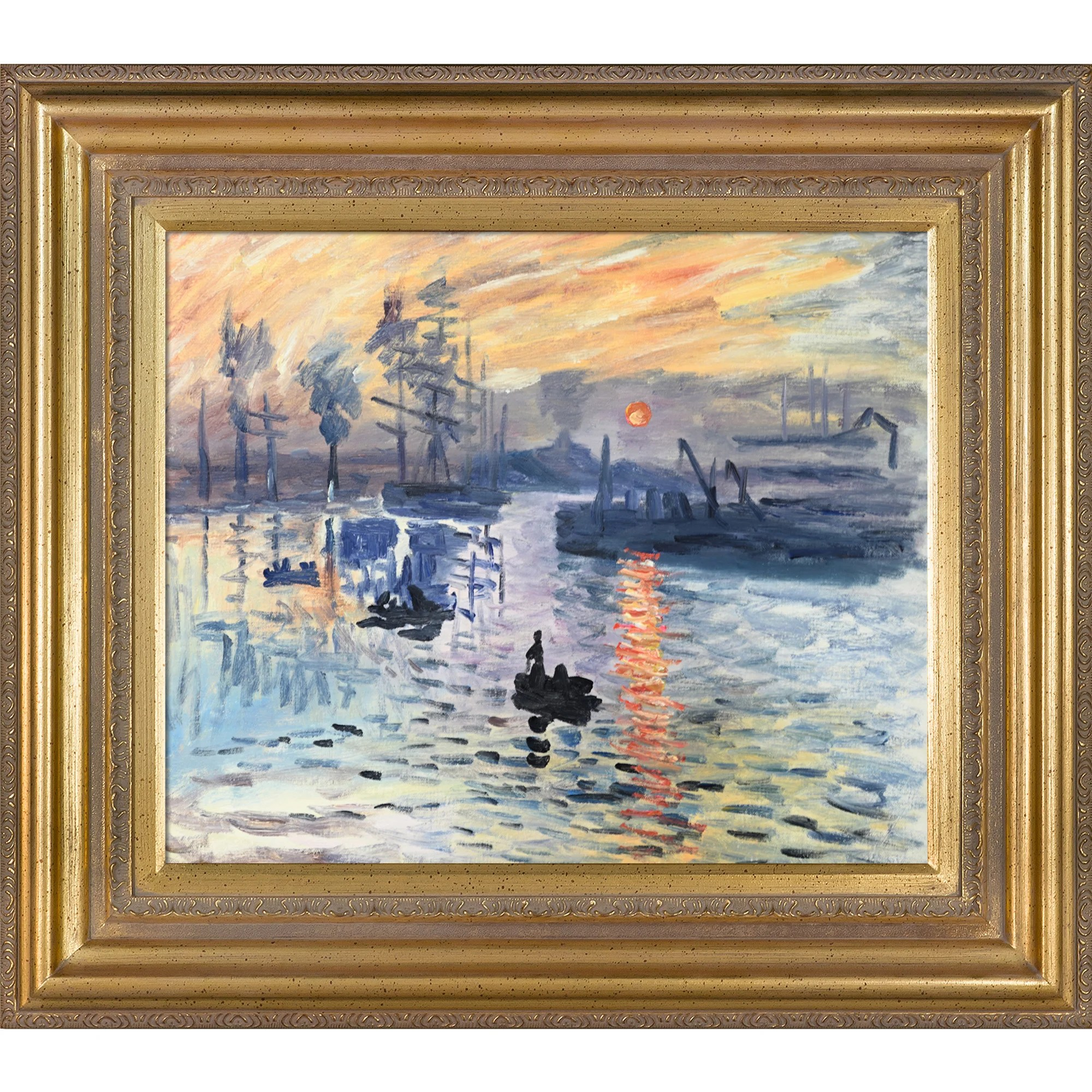 Fly Argenteuil Impression Sunrise By Claude Monet Framed Painting