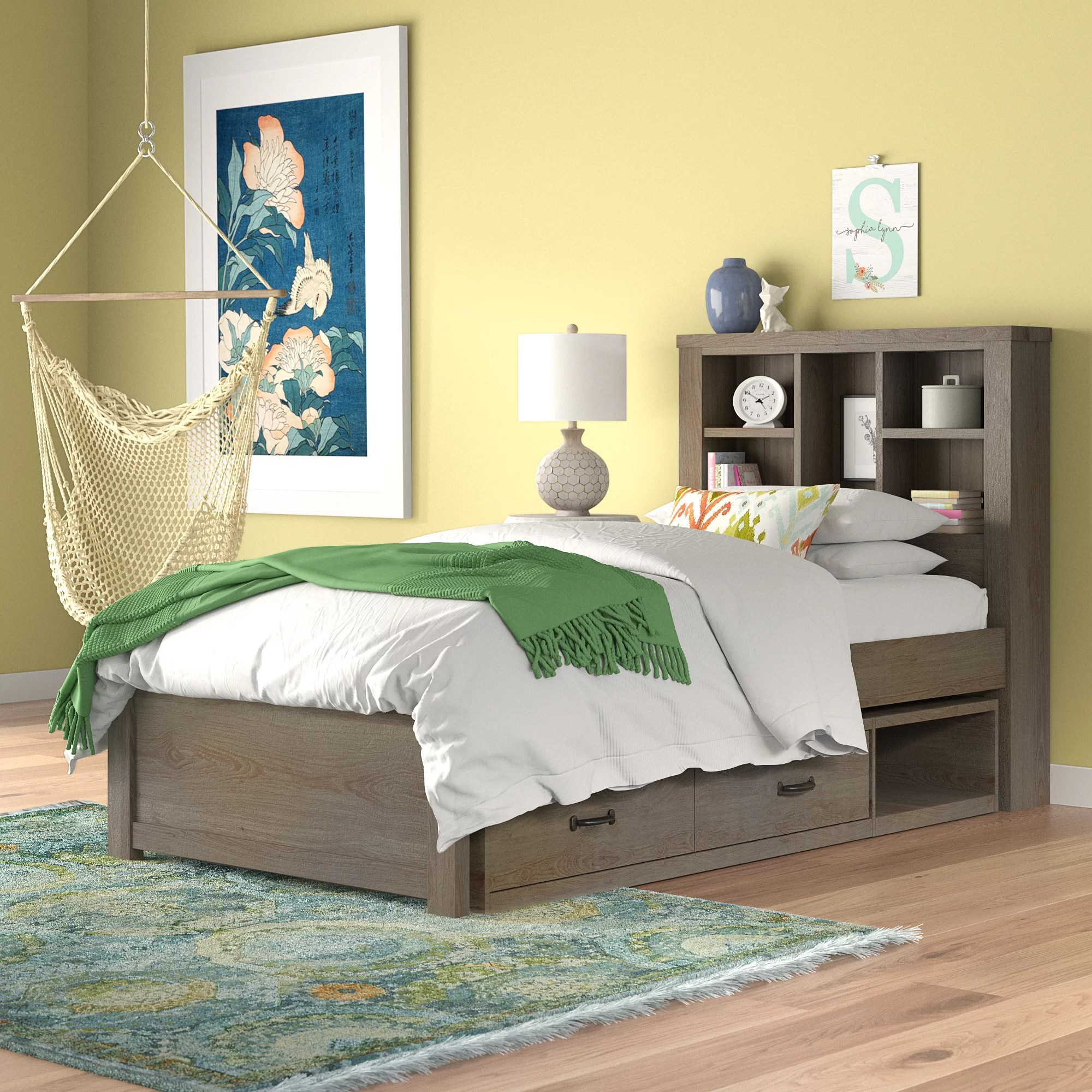 Bookcase Bed Stella Twin Bookcase Bed With Trundle