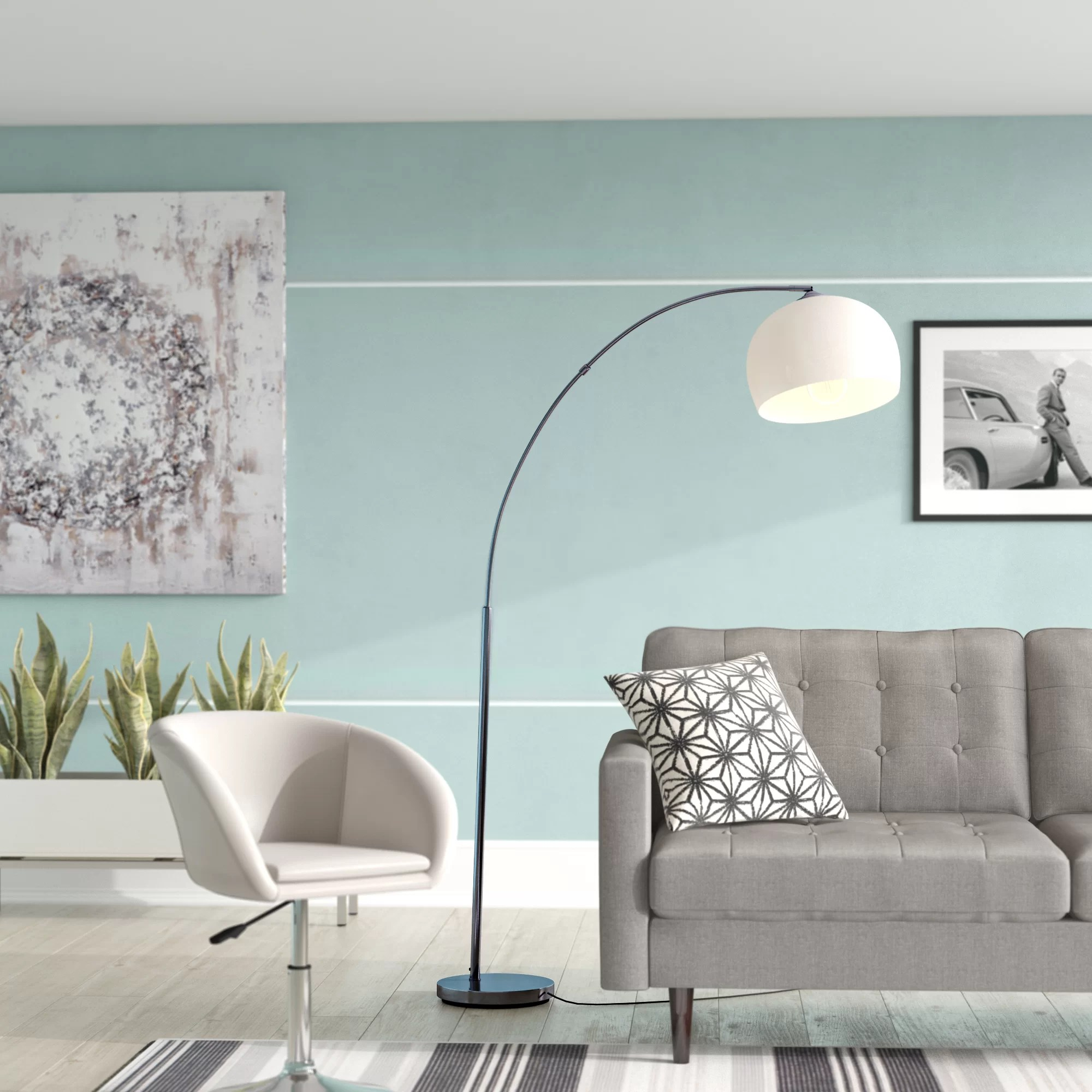 Bogenlampe Wohnzimmer