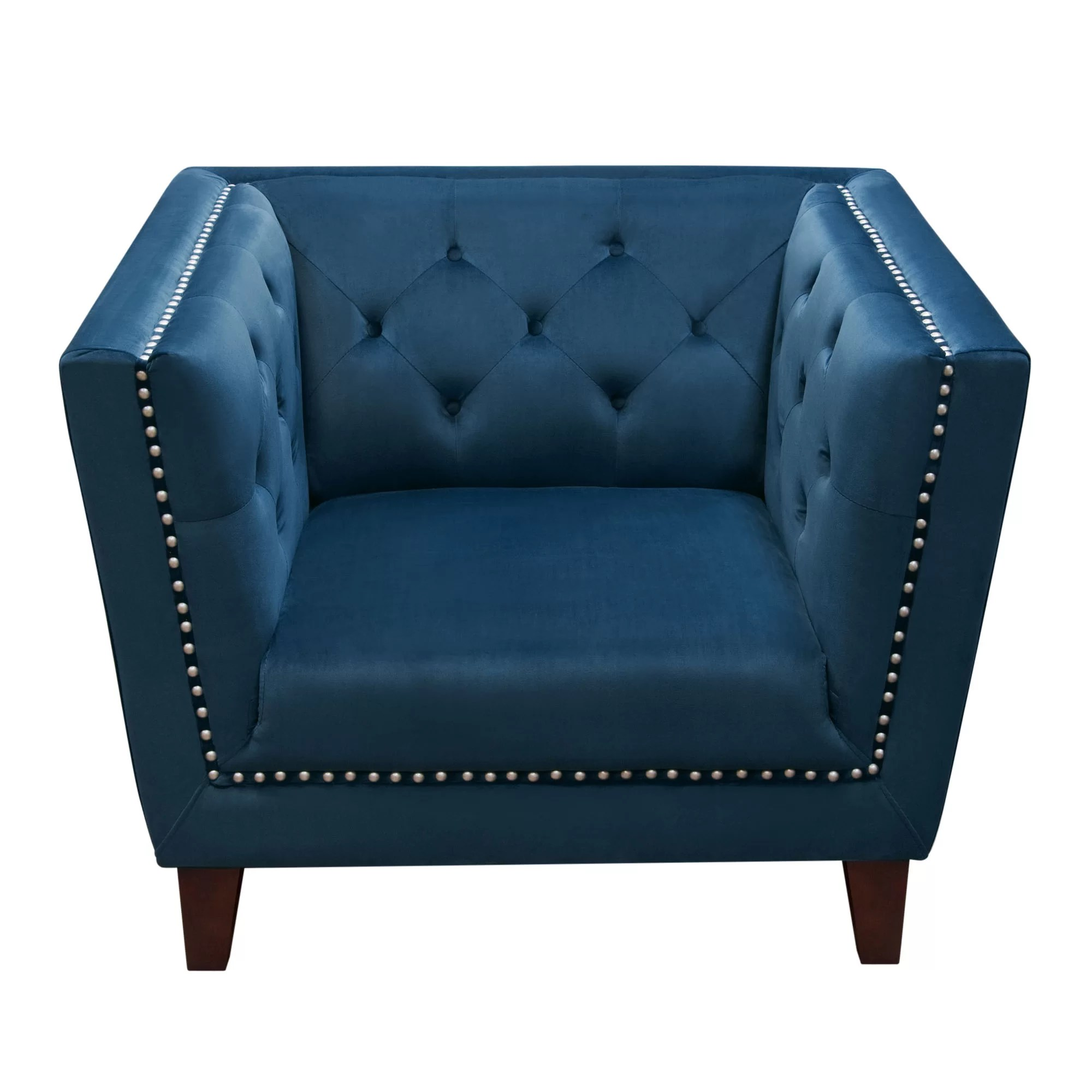 Accent Arm Chairs Grand Tufted Back Accent Arm Chair