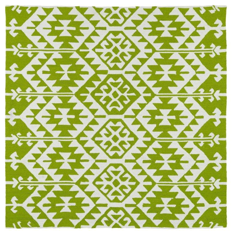 Wrought Studio Lime Green Ivory Indoor Outdoor Area Rug