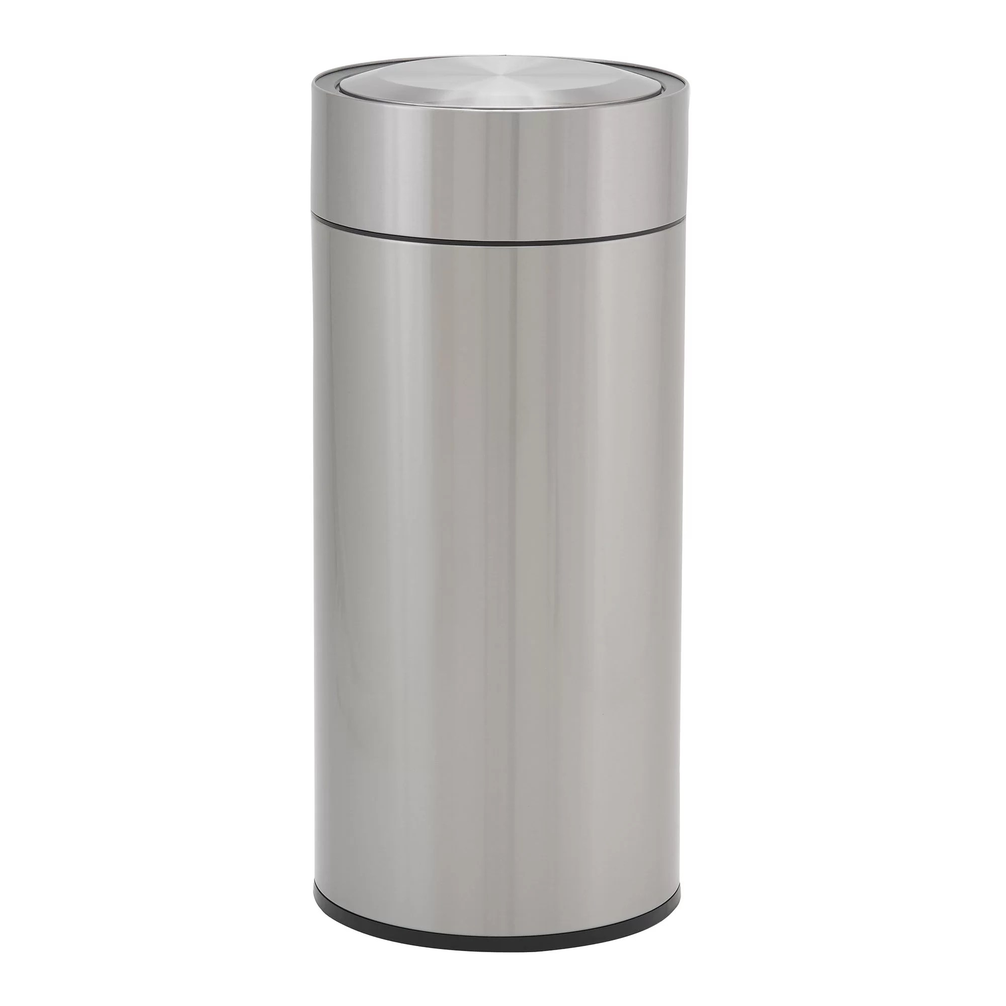 Metal Indoor Trash Can Design Trend Round Stainless Steel 8 Gallon Motion Sensor Trash Can