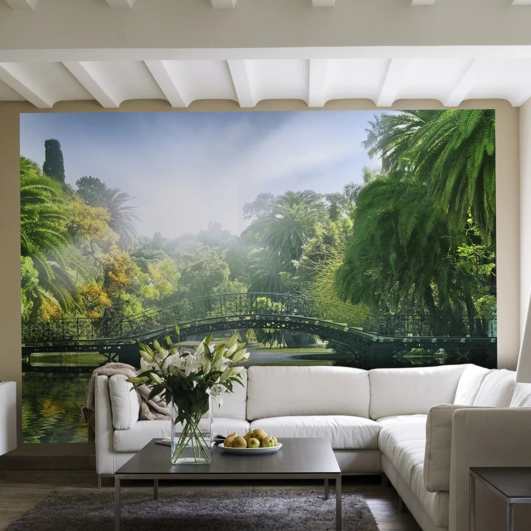 Wall Mural Ideas For Living Room Ideal Decor Bridge In Sunlight 144 X 100
