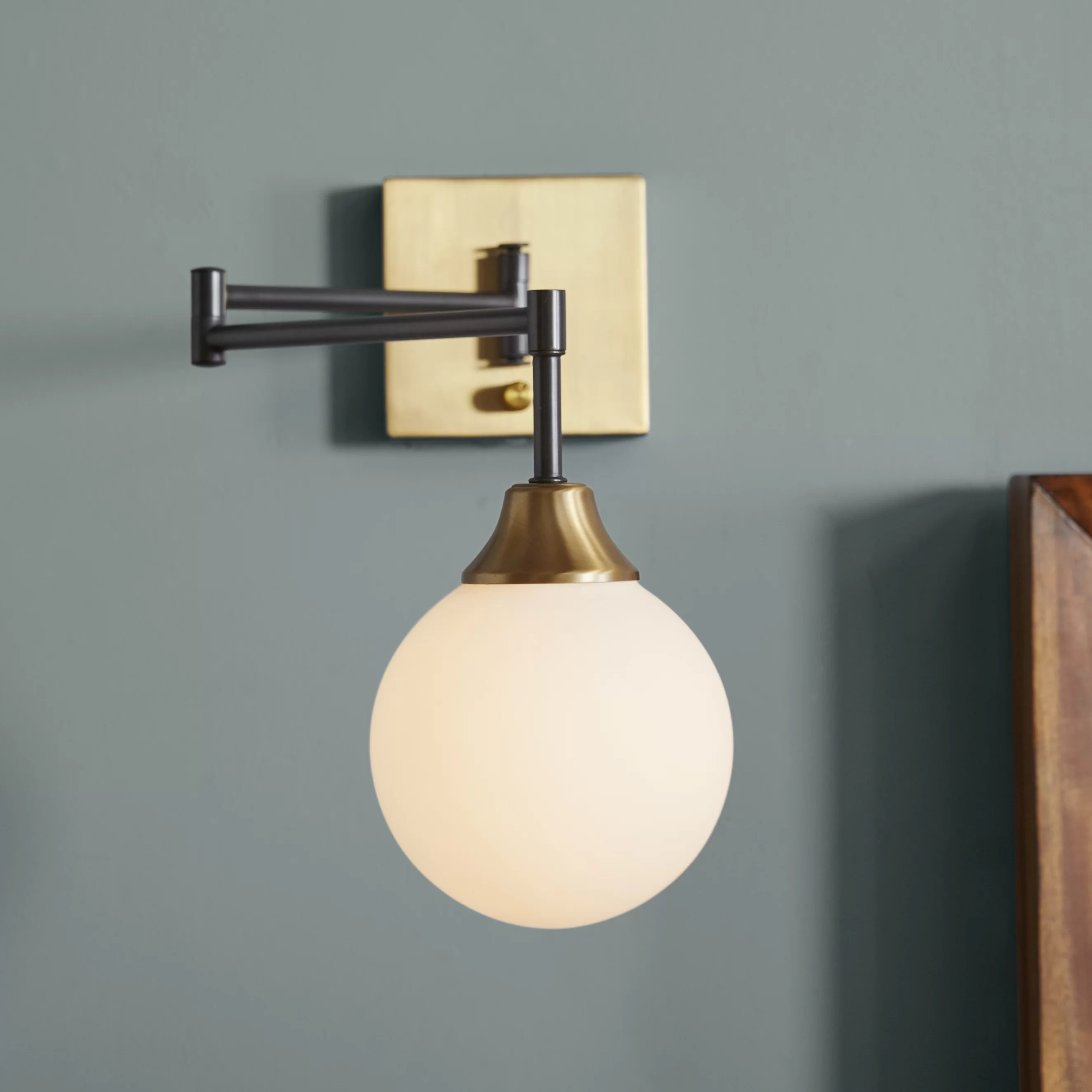 Arm Lamp Bautista Swing Arm Lamp