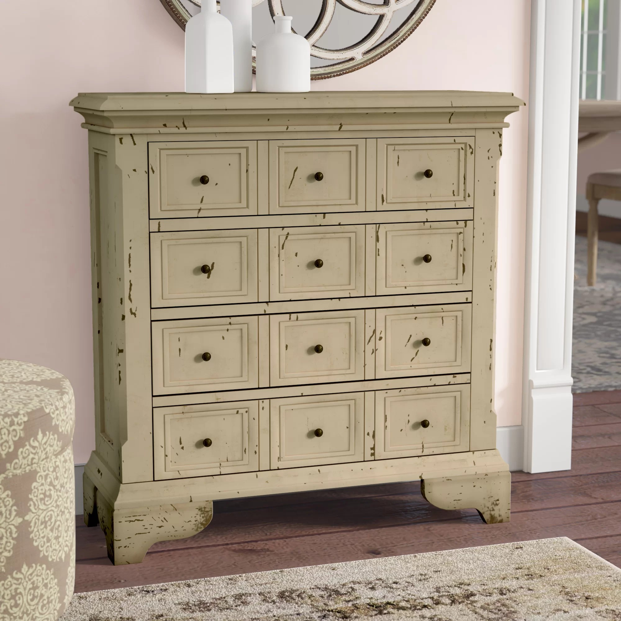 Cupboard Drawers Alycia 4 Drawer Accent Chest