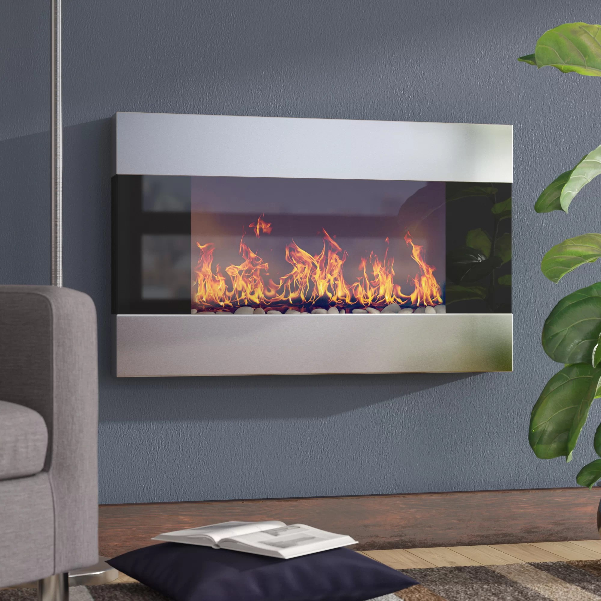 Electric Fireplace Built Into Wall Clairevale Wall Mounted Electric Fireplace
