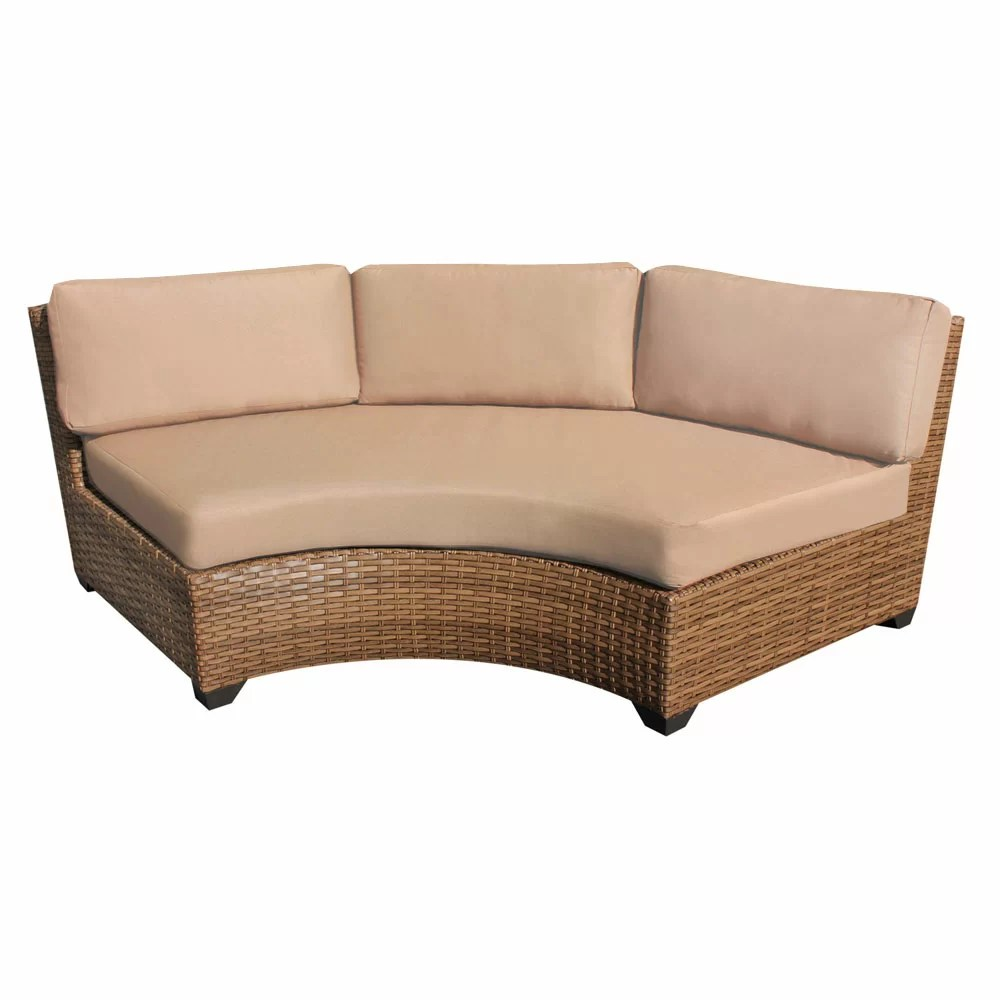 Curved Sofa Asellus Curved Sofa With Cushions