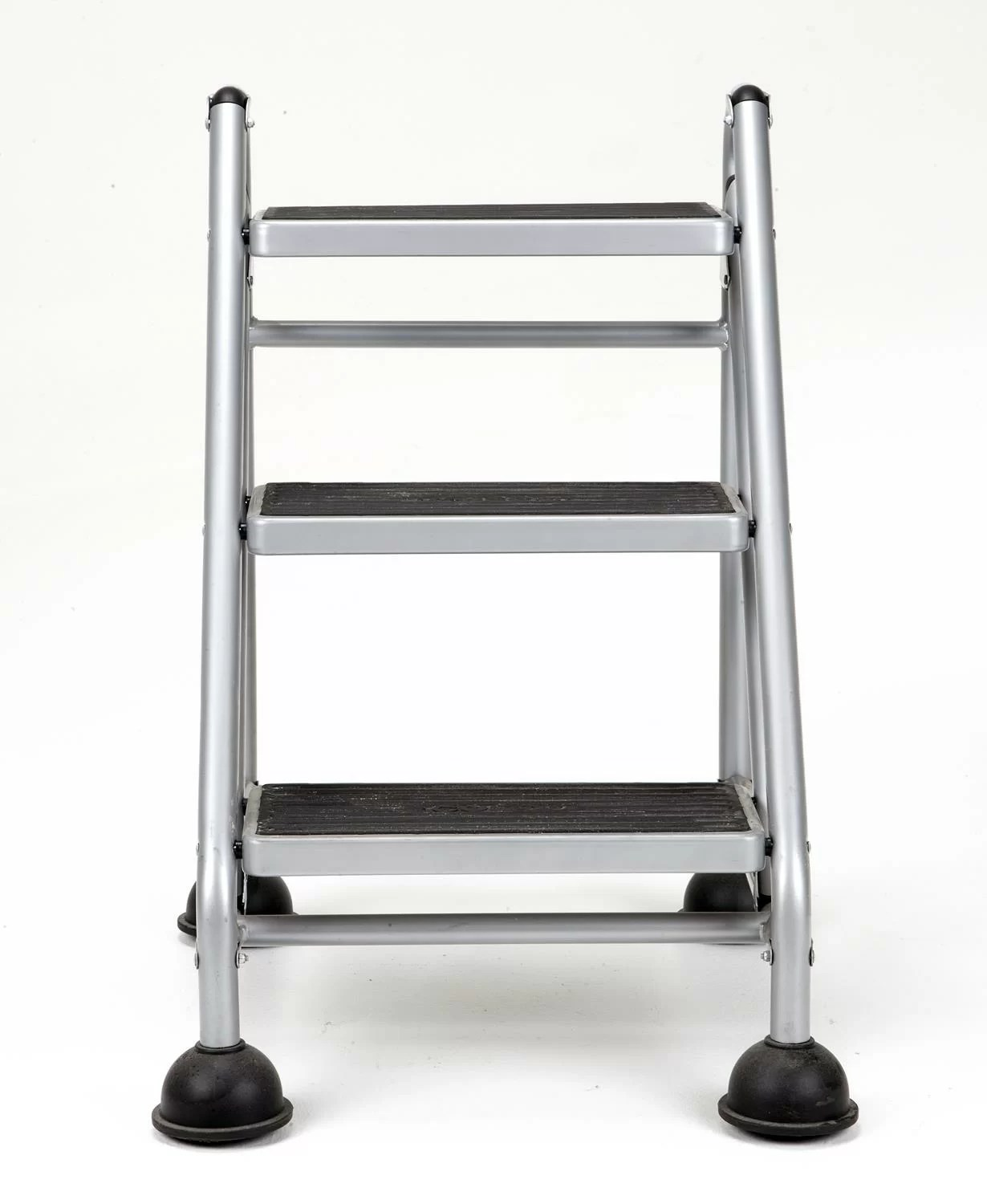 Metal Step Stool 3 Step Steel Rolling Step Stool With 300 Lb Load Capacity