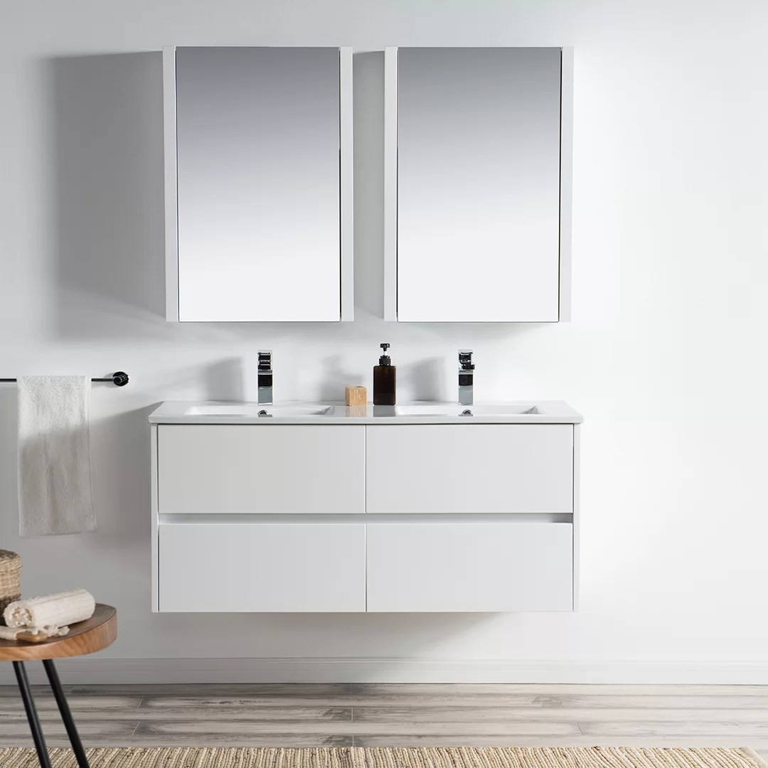 Wall Mount Double Vanity Oquendo 48
