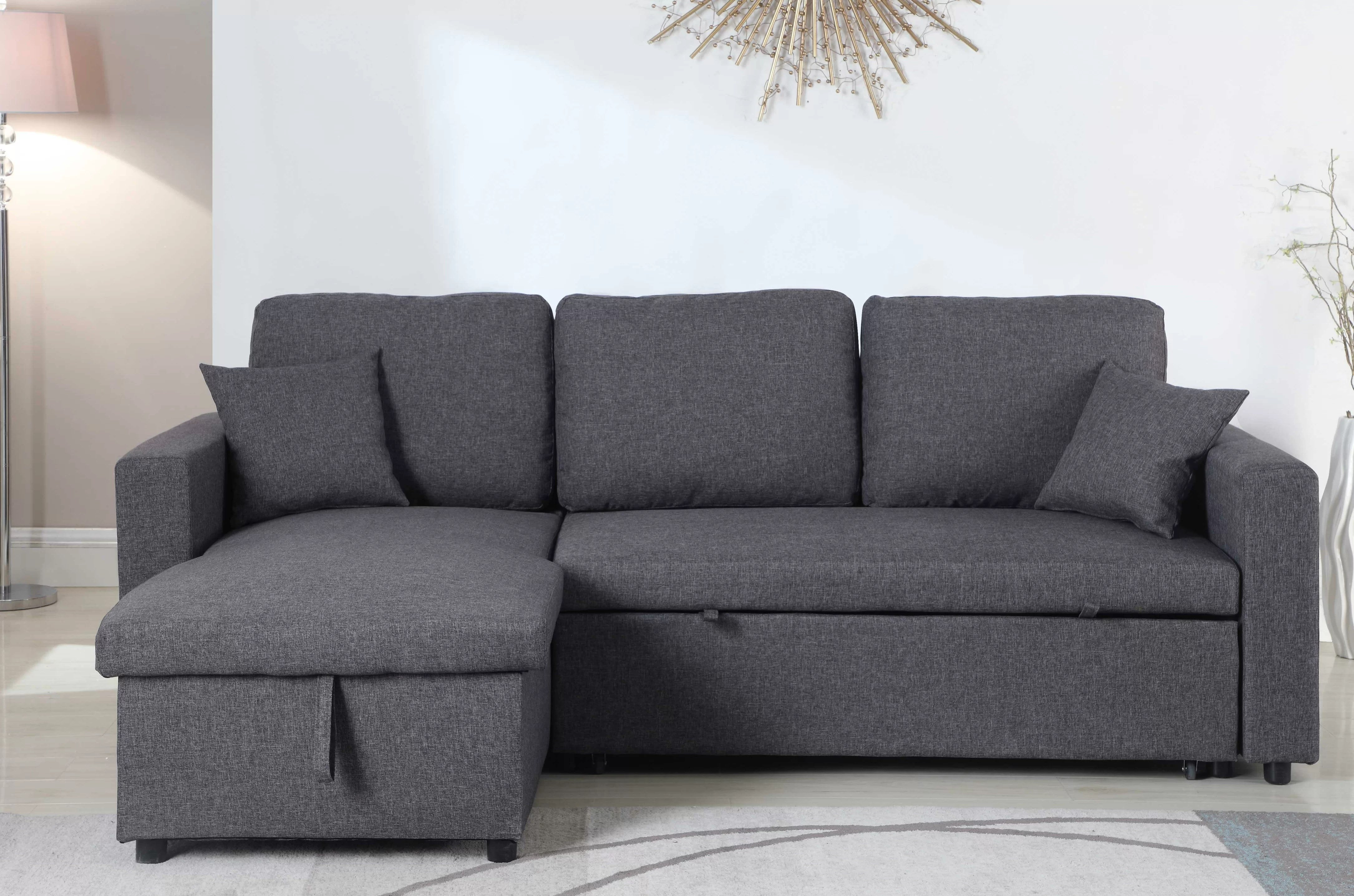 Sectional Pull Out Couch Vernita Reversible Sleeper Sectional