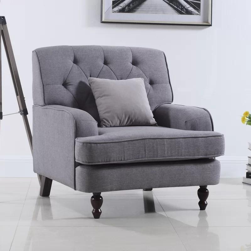 Madison Home USA Modern Tufted Fabric Living Room Armchair - living room armchair
