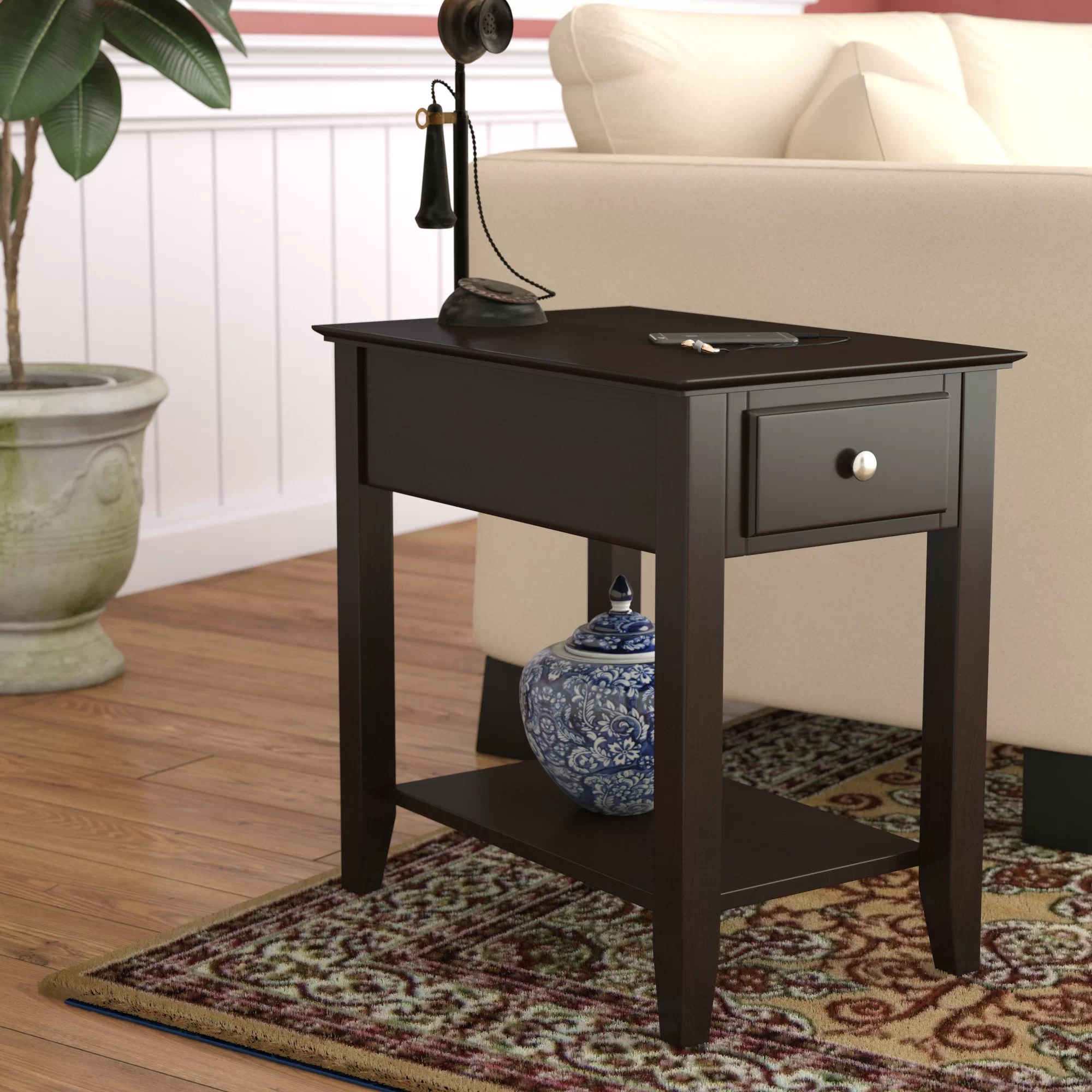 End Table For Living Room Hadley End Table With Storage
