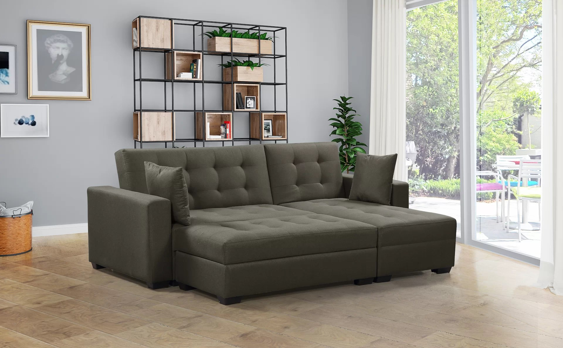 Sofa Foam Leeds Leeds Reversible Sleeper Sectional