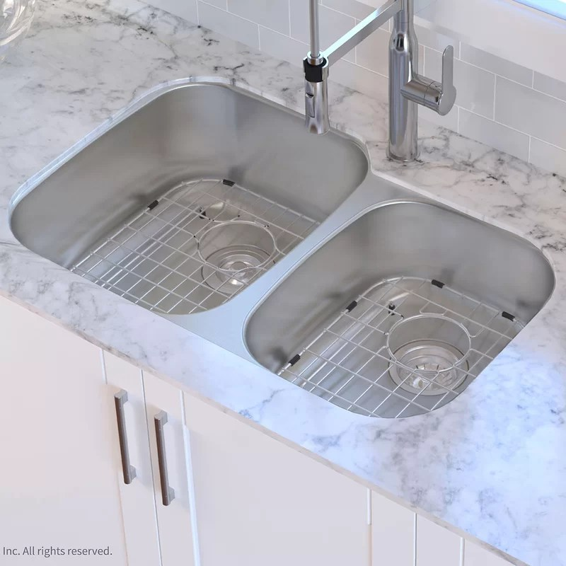 Kraus 32quot X 21quot Double Basin Undermount Kitchen Sink With