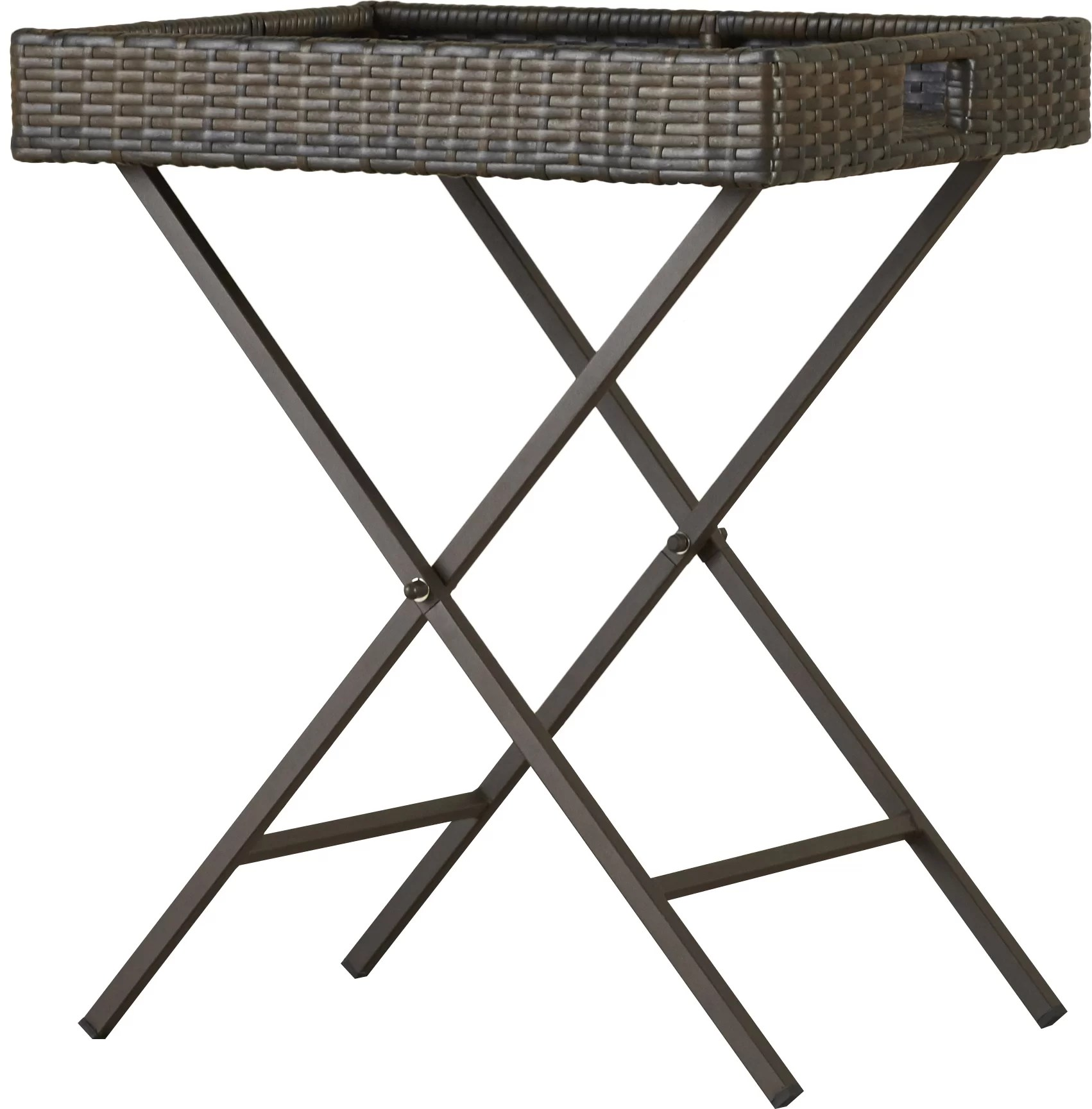Rattan Table Folding Wicker Rattan Side Table