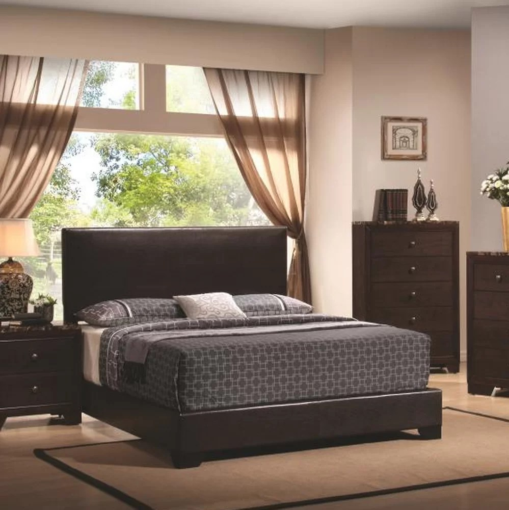 Low Headboard For Under Window Tanner Upholstered Panel Bed