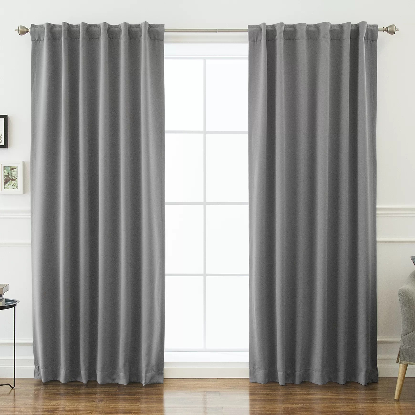 Grey Thermal Curtains Sweetwater Blackout Solid Thermal Curtain Panels