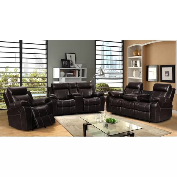 Living In Style Gabrielle 3 Piece Living Room Set \ Reviews Wayfair - 3 piece living room sets