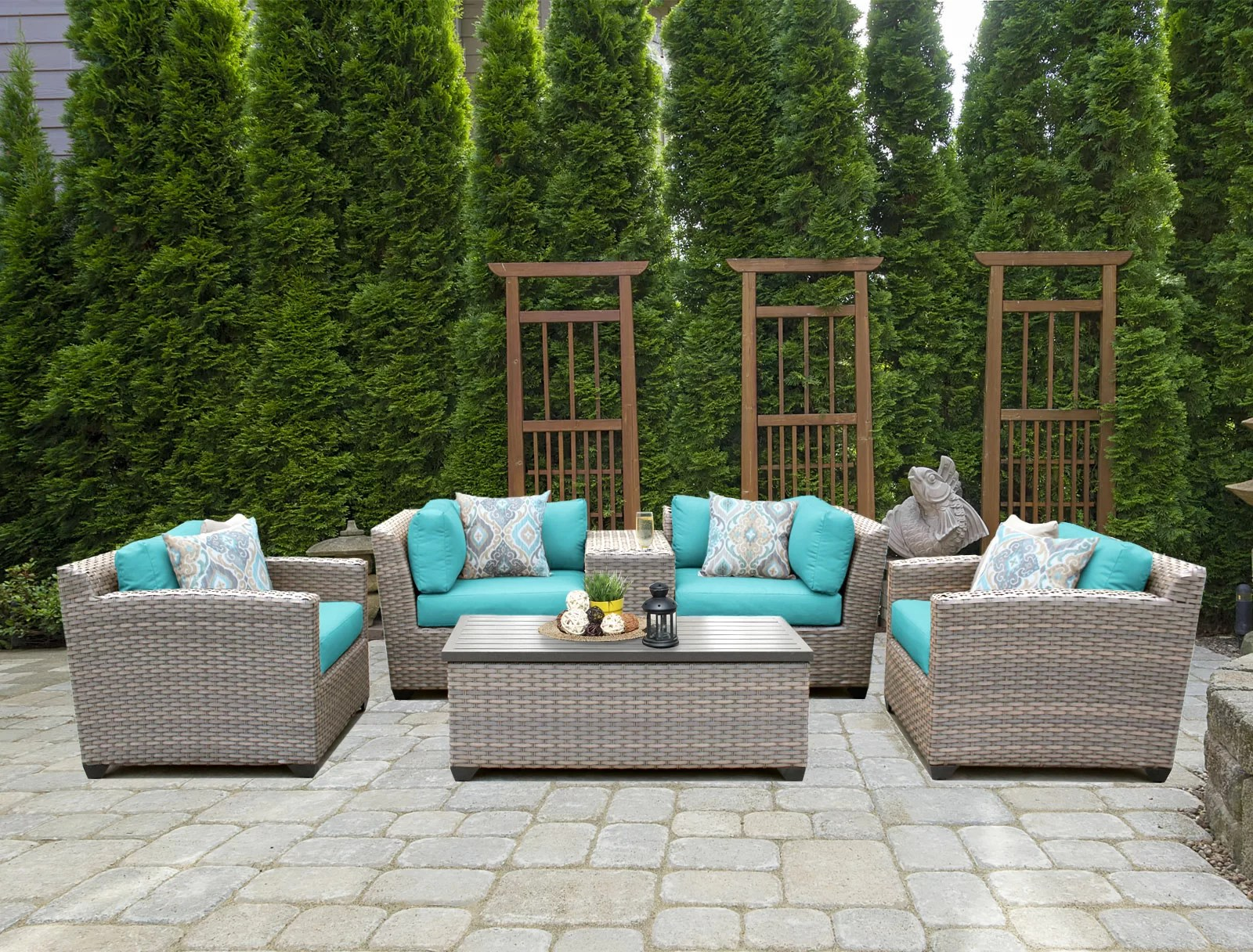 Rattan Sofa Romford 6 Piece Rattan Sofa Seating Group With Cushions