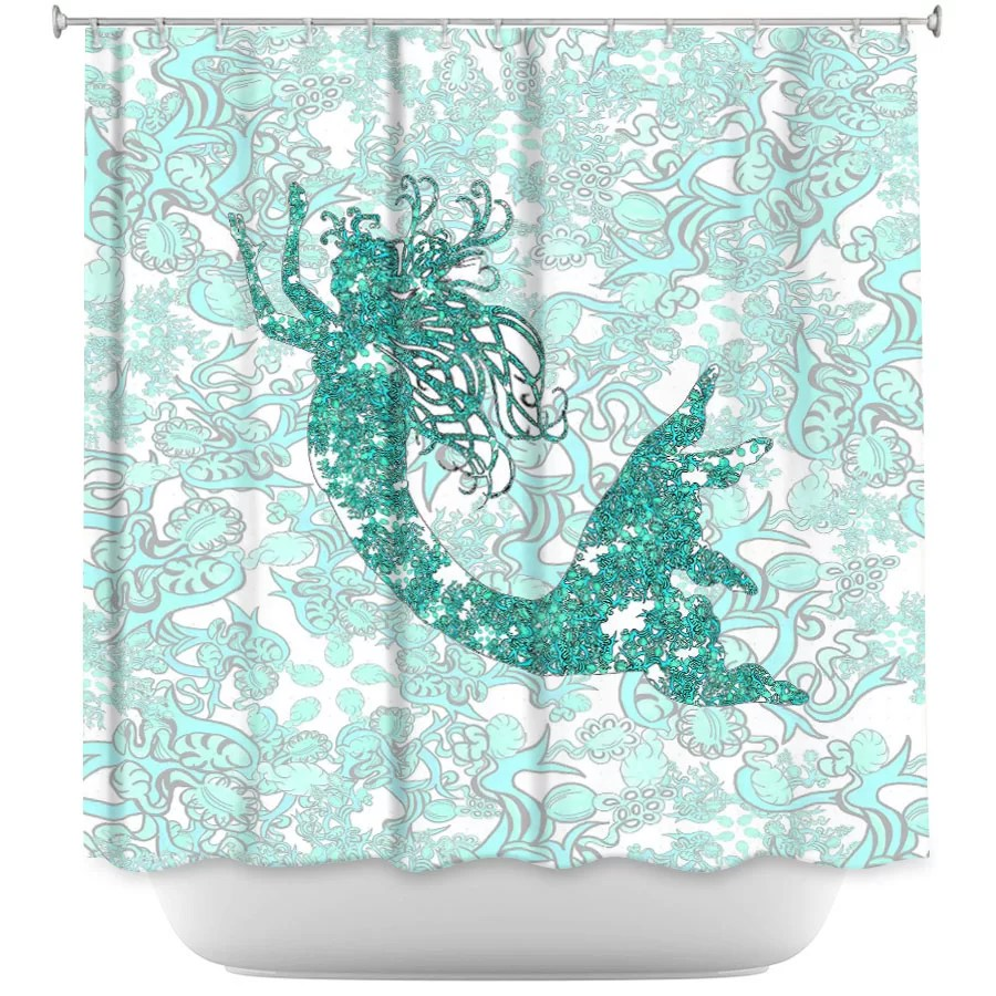 Mermaid Scale Shower Curtain Bellingham Mermaid Single Shower Curtain