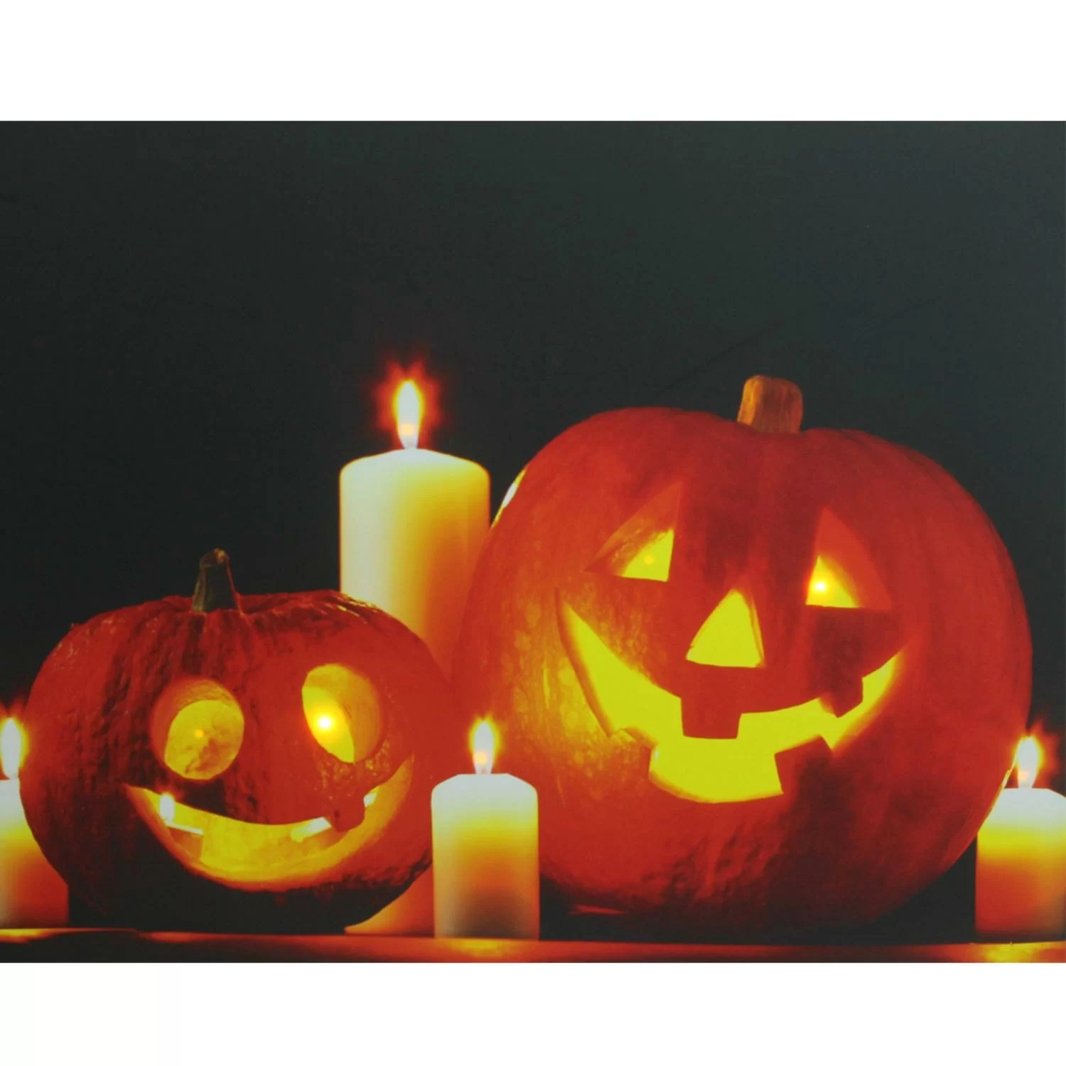 Led Halloween Lights Halloween Jack O Lanterns Battery Operated Led Graphic Art On Canvas