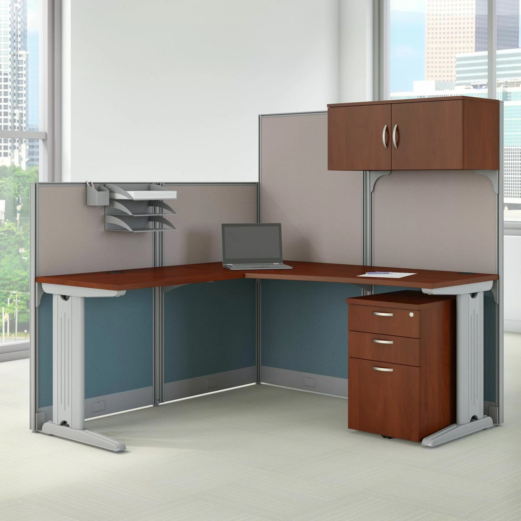 Workstation Furniture Office In An Hour L Shaped Cubicle Workstation