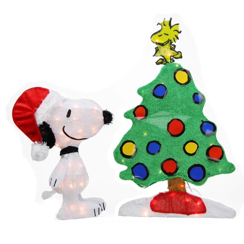 Snoopy-outdoor-christmas-decorations-52 decorations walmart - peanuts outdoor christmas decorations