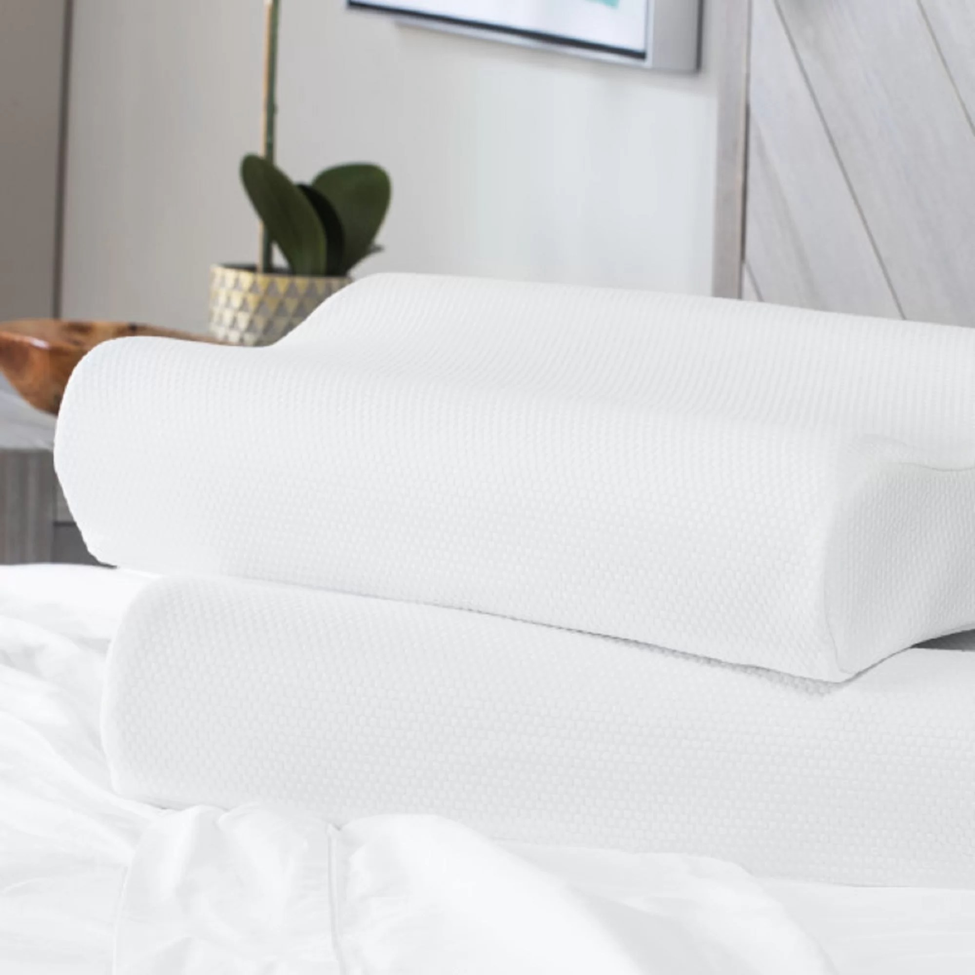 Standard Bed Pillows Classic Contour Standard Bed Pillow