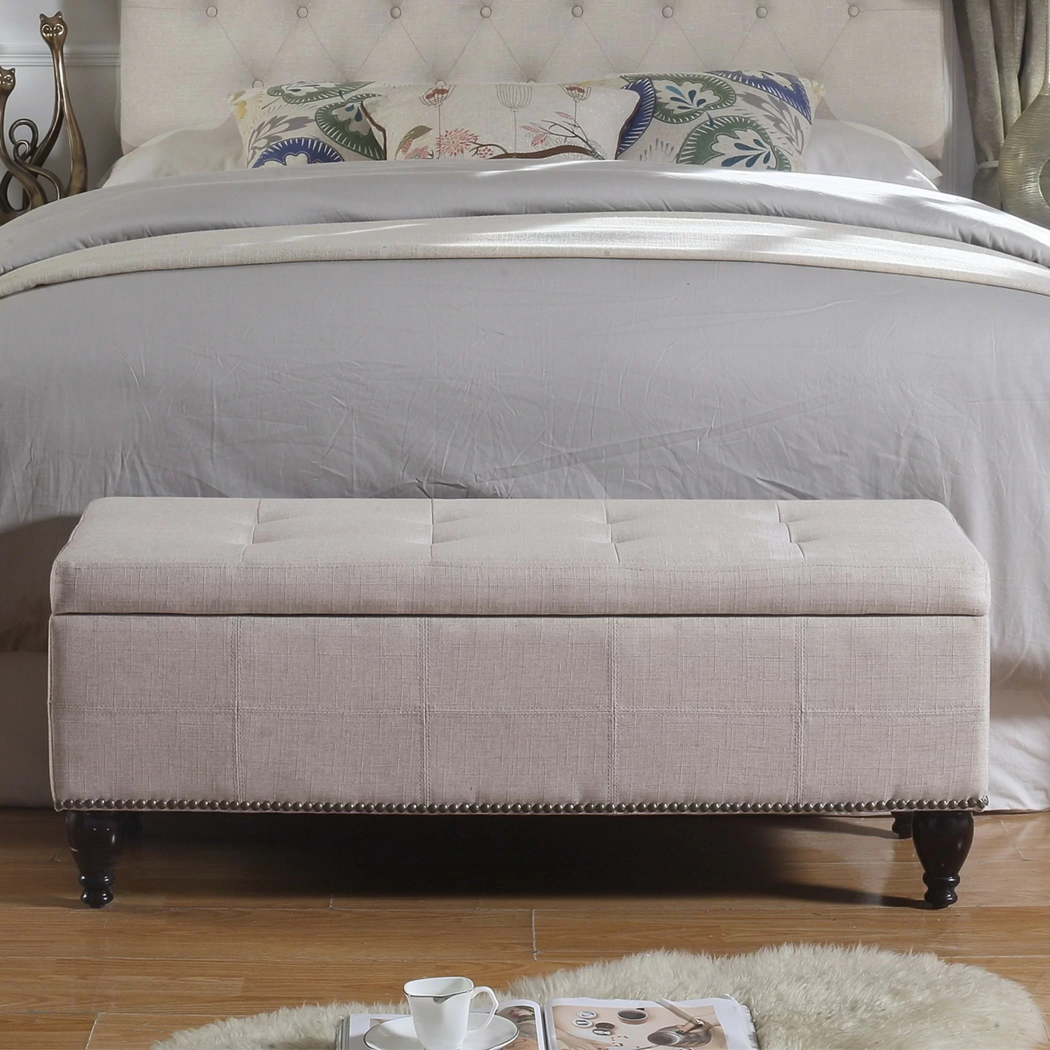 Bed End Storage Darrah Upholstered Storage Bench