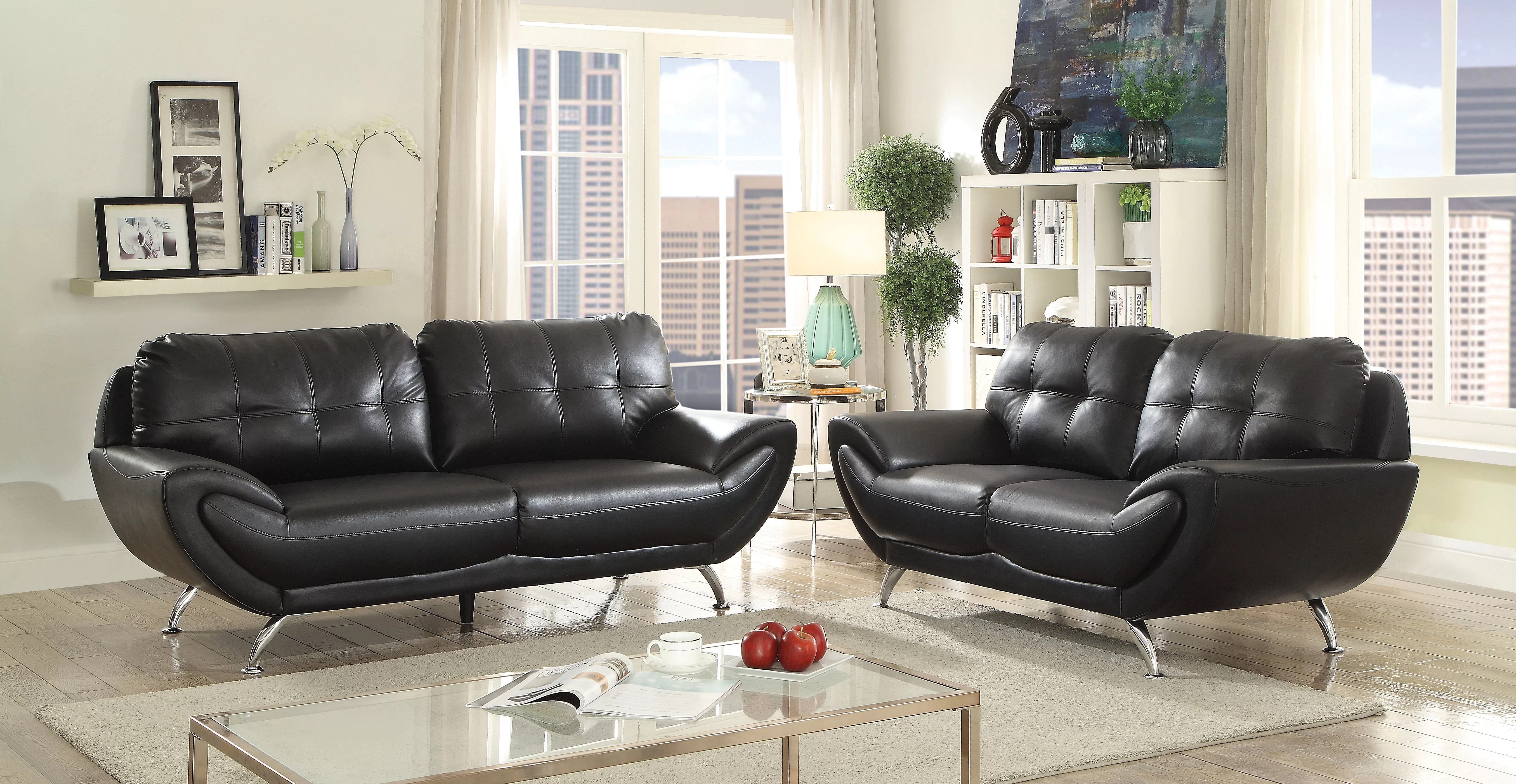 Contemporary Living Set Diez Contemporary Configurable Living Room Set