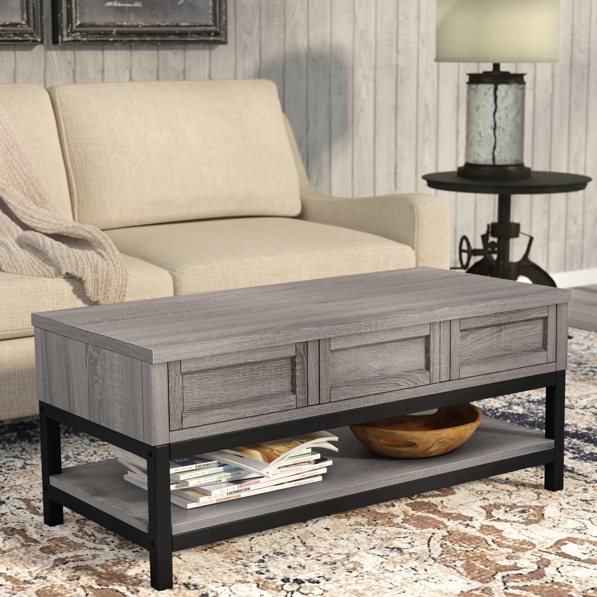 Farmhouse Coffee Shop Laurel Foundry Modern Farmhouse Omar Lift Top Coffee Table