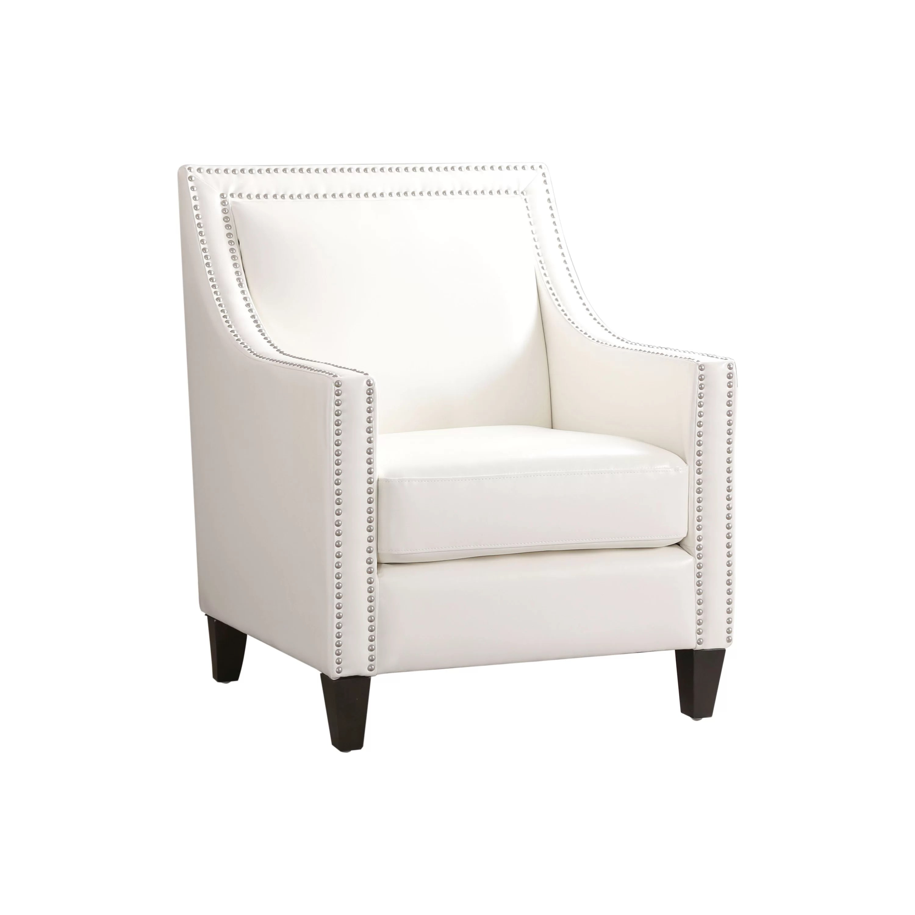 Barlow White Leather Sofa And Loveseat Set Stahlman Faux Leather Armchair
