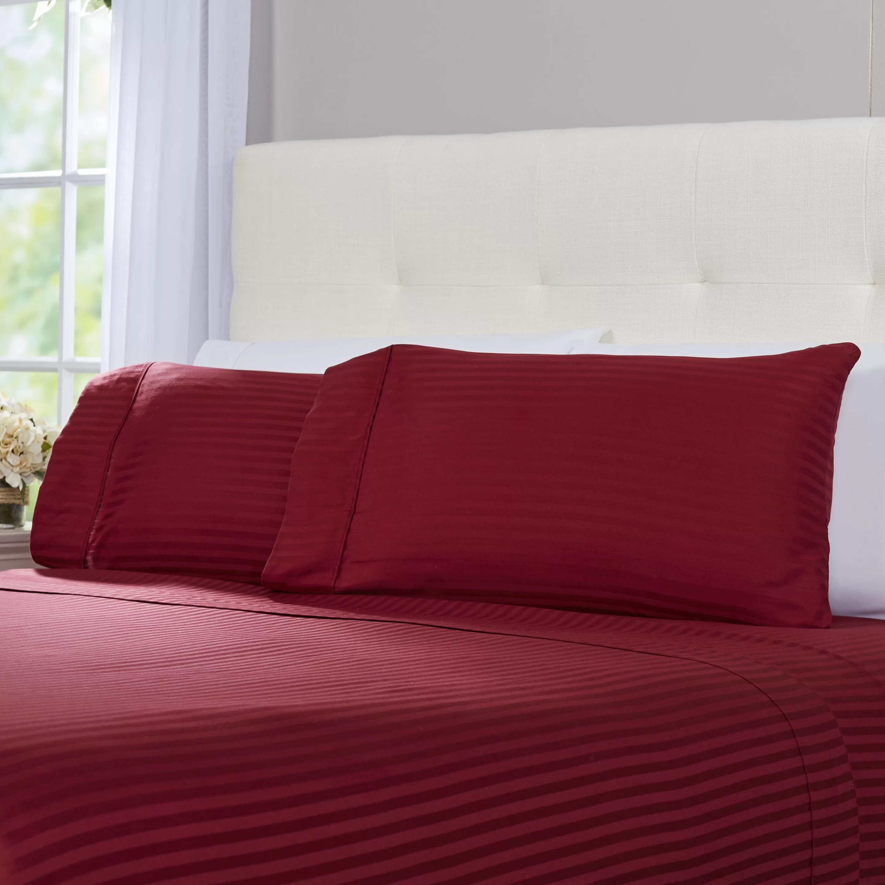 100 Egyptian Cotton Sheets Hogansville 300 Thread Count Striped 100 Egyptian Quality Cotton Sheet Set